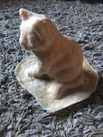 Latex Mould to make this Serene Sitting Cat Ornament
